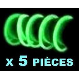 5 Bracelets Fluo Verts