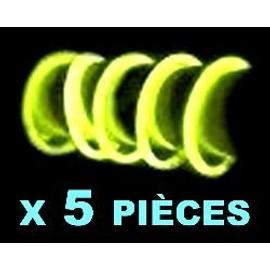 5 Bracelets Fluo Jaunes
