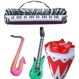 12 Instruments Gonflables Jazz Band (4 Guitares, 4 Saxo, 2 Synth�. 2 Djemb�s)