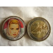 2 Euro Couleur En Emaille Monaco Grace Kelly