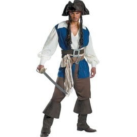 M - Xl Exportations Uniforme Man Pirate Jack Cosplay Costumes Pirates Des Cara�bes Halloween Disfraces De Jeu M�le V�tements