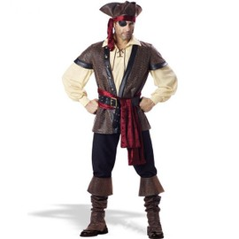 Halloween Hommes Luxe Pirates Des Cara�bes Capitaine Jack Jeu De R�le Brun Costumes Mascarade Pirate Cosplay Costume