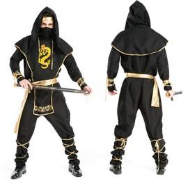 D�tail De Haute Qualit� Halloween Noir Ninja Cosplay Costumes Homme Carnaval Masquerade Samurai Costumes Tir R�el