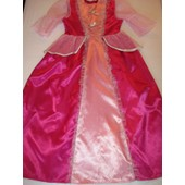 Robe D�guisement Marquise Satin Rose 8/10 Ans