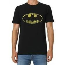 T-Shirt B&c T-Shirt Logo Batman Coton Xl Noir