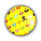 1x Badge - Multi Skulls Jaune - T�te De Mort Freak Punk Tattoo Kustom Kids Pins Button �25mm