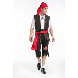 New Hot Vente Halloween Pirates Cosplay Lovers Pirate Costumes Femme Et Homme Mascarade Pirate Cosplay Costume