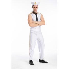 L Et Xl Arriv�e De Nouveaux Blanc Hommes Sailor Cosplay Costumes Halloween Mascarade Les �tats-Unis Marins De La Marine R�le Jouer Disfraces