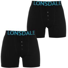 Lot De 2 Boxer Hommes Lonsdale � Boutons