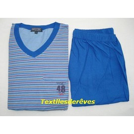 Pyjashort Homme Outfitter 100% Coton Jersey S � Xxl