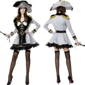 New Luxury Reine Pirate Des Cara�bes Halloween Mascarade Cosplay Costume Sexy Jeu De R�le Jeu Discoth�que Disfraces