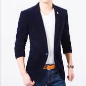 Veste De Costume D'affaires Mode Blazer Seul Bouton Mince Fit V�tement Masculine