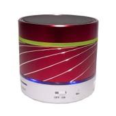 S07u Led Portable Mini Wireless Bluetooth Speaker Subwoofer Metal Musique Amplificateur Avec Radio Fm Lecteur Mp3 Soutien Tf(Rouge)