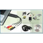 Adaptateur Convertisseur Carte D'acquisition Vid�o Audio USB VHS Camescope
