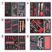 Composition D'outils 6 Tiroirs Pour Servante, 202 Pi�ces Ks Tools 714.0202