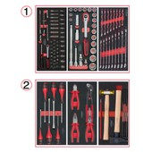 Composition D'outils 2 Tiroirs Pour Servante, 114 Pi�ces Ks Tools 714.0114