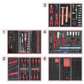 Composition D'outils De Service Rapide 5 Tiroirs Pour Servante, 283 Pi�ces Ks Tools 714.0283