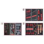 Composition D'outils 3 Tiroirs Pour Servante, 158 Pi�ces Ks Tools 714.0158