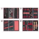 Composition D'outils 4 Tiroirs Pour Servante, 241 Pi�ces Ks Tools 714.0241