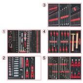 Composition D'outils 5 Tiroirs Pour Servante, 311 Pi�ces Ks Tools 714.0311