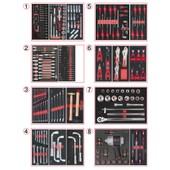 Composition D'outils Pl 8 Tiroirs Pour Servante, 354 Pi�ces Ks Tools 714.0330