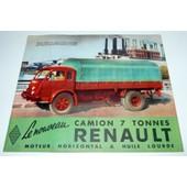 Camion Renault 7 Tonnes � Moteur Horizontal,D�pliant Publicitaire De 1951