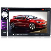 Polarlander 6.5 Inch 2 Din Support Rds/Am/Fm/Usb/Sd Reversing Camera 7 Languages Hd Touch Screen Car Dvd Mp4 Player Bluetooth