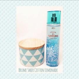 Bath And Body Works Brume Sheer Cotton Lemonade Eau De Toilette Vaporisateur 236 Ml