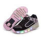 Enfant Heelys Chaussures � Roulettes Avec Roues Chaussures Pour Enfants Chaussures Pour Enfants Gar�ons Filles Led Light Sneakers