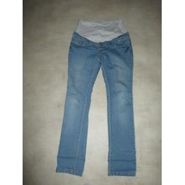 Pantalon Ligne Maternit� Taille 40 Bleu Clair