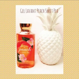 Gel Lavant Georgia Peach & Sweet Pea Bath And Body Works