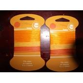 Ruban , Fil Coton Et Organza 3x1m Orange