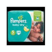 Pampers Baby Dry Taille 5, 11 A 23 Kg X39 Couches