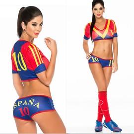 D�guisement Femme / Cheerleaders Sexy De Coupe D'europe / Coupe Du Monde De L'�quipe Espagnole