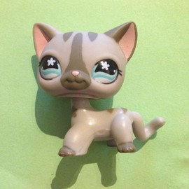 Littlest Pet Shop Petshop N� 468 Chat Gris Hasbro Hasbro