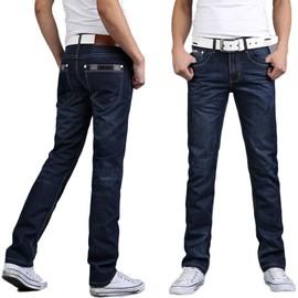 Jeans Hommes Mode Pantalon Type Droit Casual V�tement Masculine