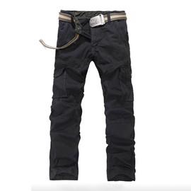 Cargo Pantalon Hommes Mode Pantalon Multi-Poches Casual Vetement Type Droit