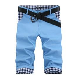 Pantacourt Hommes Mode Court Pantalon D'�t� Casual V�tement Style Droit