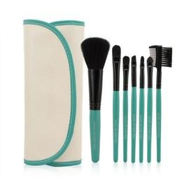 Ysfmode� Femmes 7 Pi�ces Pinceau De Maquillage Ensemble Vert Coral Couleur Femelle Maquillage Brosse Ensemble
