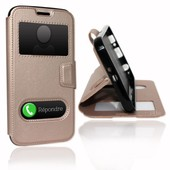 Samsung Galaxy Fame Lite (6790) �tui Housse Coque Or Gold By Ph26