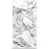 Etui Coque Housse Design Sony Xperia Z5 Premiumen Silicone Gel Protection Arri�re - Marbre Blanc