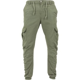 Urban Classics - Cargo Twill Jogging Pants Gris Olive