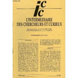 L'intermediaire Des Chercheurs Et Curieux N� 445 - Questions 305 : Combien De Rois Pour La France ? - 306 : Saron : Toponymie. - 306 : L�on : �tymologie.-307 : Duch� De Bretagne De Conan Iv ...
