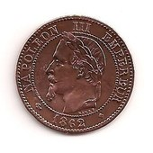 2 Centimes Napol�on 3. 1862 Bb. Tr�s Belle Pi�ce
