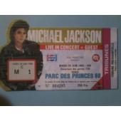 Billet Mickael Jackson Tribune Presidentielle Parc Des Princes