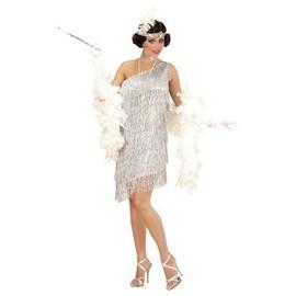 Costume Charleston Chic Argent�e - L