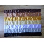 Drapeau Flag Gay Bear Ours Gay Pride En Satin