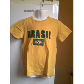 T-Shirt Tape � L'oeil Coton 10 Ans Jaune Br�sil