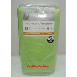 - Drap Housse 200x200 Cm 100% Coton Jersey Extensible � Bonnet 30cm.