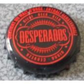 Capsule De Bi�re Desperados - �criture Rouge Sur Fond Noir